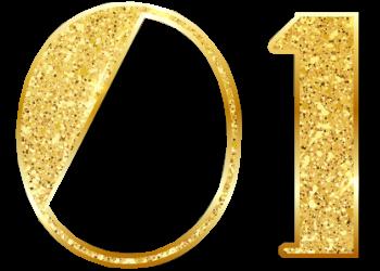 Golden Lights Text New Year 2019