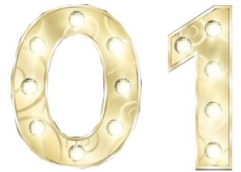 Happy New Year 2019 Golden Shiny Text
